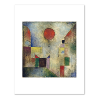 Paul Klee, Red Balloon (Roter Ballon), 1922, Fine Art Prints in various sizes by Museums.Co