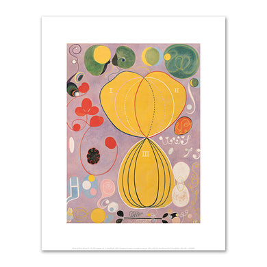 Hilma af Klint, Group IV, The Ten Largest, No. 7, Adulthood, 1907, Fine Art prints in various sizes by Museums.Co