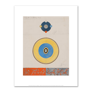Hilma af Klint, Series VII, No. 3, Appendix e., 1920, Fine Art Prints in various sizes by Museums.Co