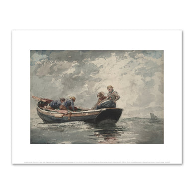Fisher Folk in a Dory by Winslow Homer