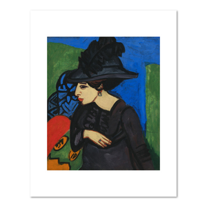 Ernst Ludwig Kirchner, Dodo with a Feather Hat (Dodo mit Federhut), 1911, Fine Art Prints in various sizes by Museums.Co