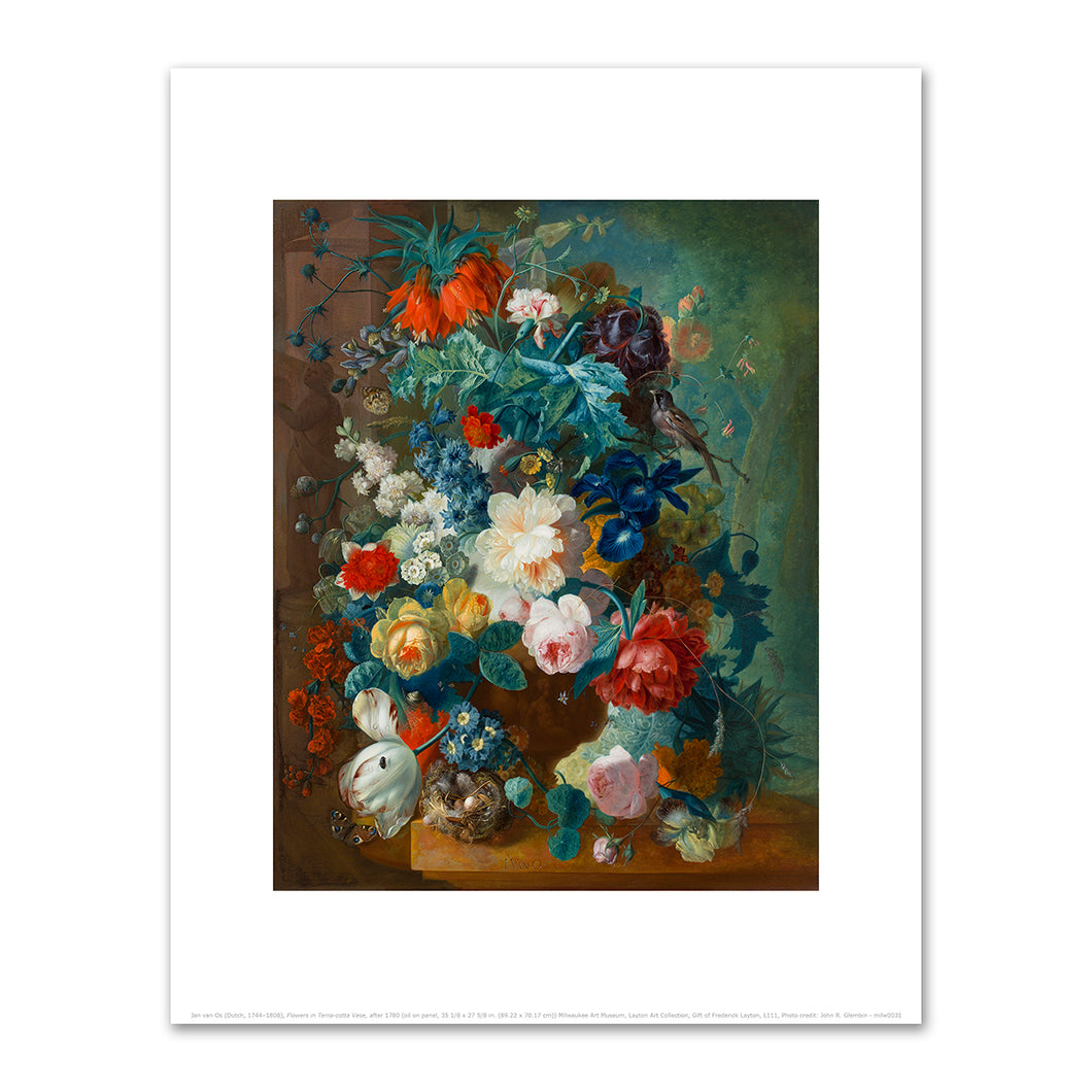 Jan van Os, Flowers in Terra-cotta Vase, after 1780, Fine Art Prints in various sizes by Museums.Co