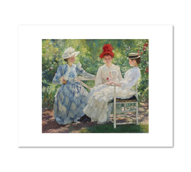 Edmund Charles Tarbell, Three Sisters— A Study in June Sunlight, 1890, Fine Art Prints in various sizes by Museums.Co