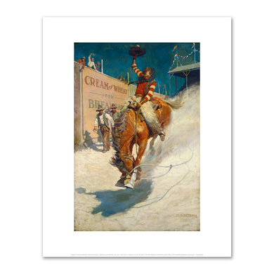 Newell Convers Wyeth, Bronco Buster, 1906, Fine Art Prints in various sizes by Museums.Co