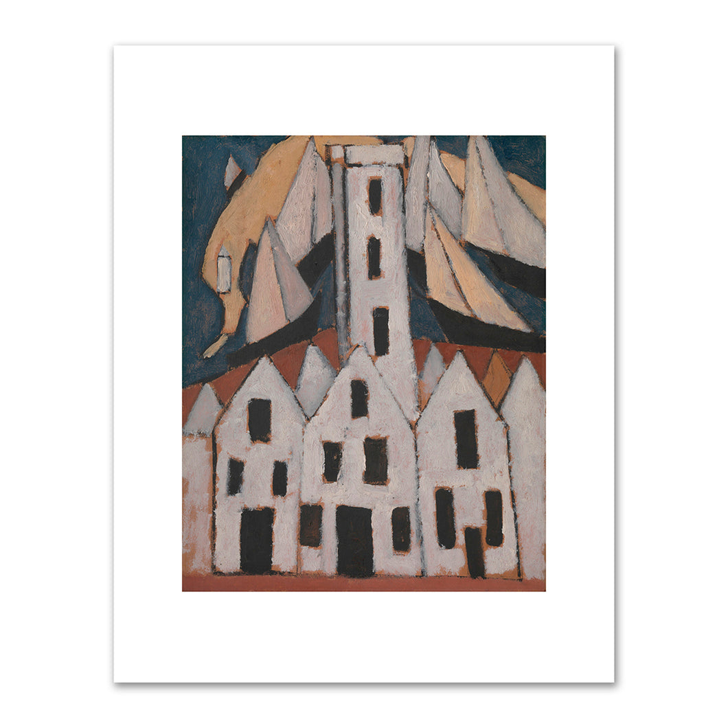 Marsden Hartley, Movement No. 5, Provincetown Houses, 1916, Fine Art Prints in various sizes by Museums.Co