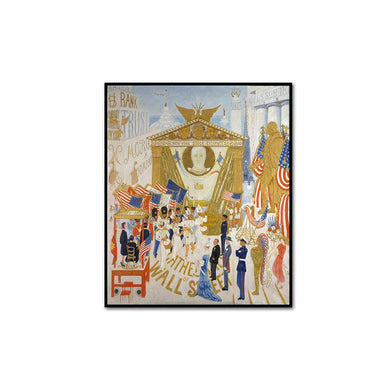 Florine Stettheimer, The Cathedrals of Wall Street, artblock in 3 sizes and 2 frame colors by 2020ArtSolutions