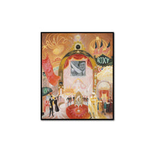 Florine Stettheimer, The Cathedrals of Broadway, artblock with black frame by 2020ArtSolutions