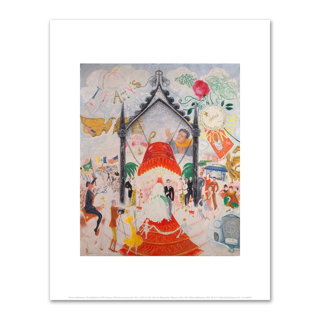 Florine Stettheimer, The Cathedrals of Fifth Avenue, 1931, The Metropolitan Museum of Art. Fine Art Prints in various sizes by Museums.Co