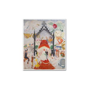 Florine Stettheimer, The Cathedrals of Fifth Avenue, artblock with white frame by 2020ArtSolutions