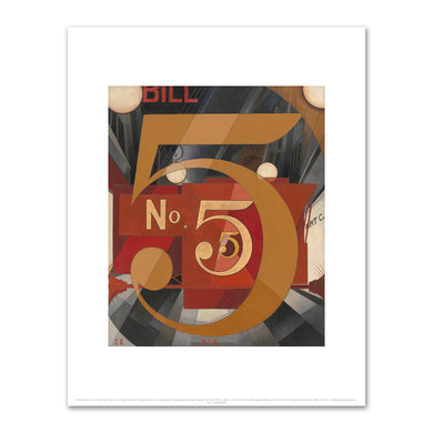 Charles Demuth, I Saw the Figure 5 in Gold, 1928, Art prints in various sizes by Museums.Co
