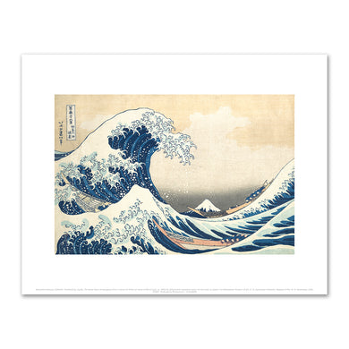 Katsushika Hokusai, The Great Wave at Kanagawa (from a Series of Thirty-six Views of Mount Fuji), ca. 1830-32, Fine Art Prints in various sizes by Museums.Co