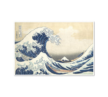 Katsushika Hokusai, The Great Wave at Kanagawa (from a Series of Thirty-six Views of Mount Fuji), ca. 1830-32, Framed Art Prints in 3 sizes with white frame by Museums.Co