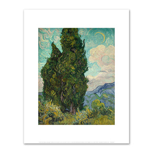 Vincent van Gogh, Cypresses, 1889, Metropolitan Museum of Art. Fine Art Prints in various sizes by Museums.Co