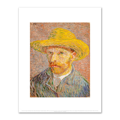 Vincent van Gogh, Self-Portrait with a Straw Hat (obverse: The Potato Peeler), 1887, Fine Art Prints in various sizes by Museums.Co