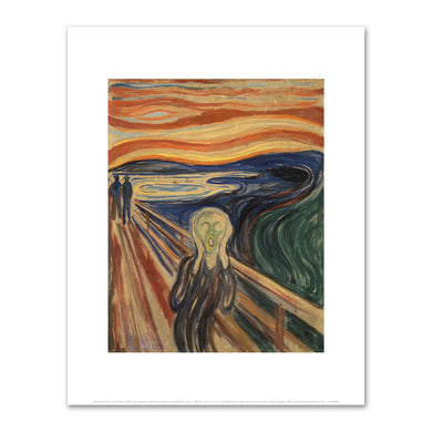 Edvard Munch, The Scream, 1893, National Gallery and Munch Museum, Oslo, Norway. Fine Art Prints in various sizes by Museums.Co
