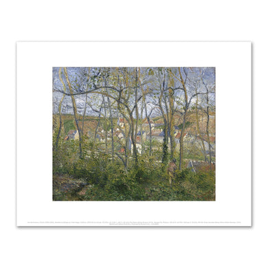 Camille Pissarro, Wooded Landscape at L'Hermitage, Pontoise, 1879, Fine Art Prints in various sizes by Museums.Co