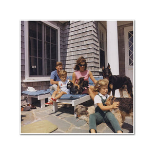 Kennedy Family with Dogs During a Weekend at Hyannisport