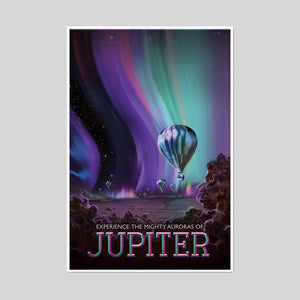 Experience the Mighty Auroras of Jupiter Artblock