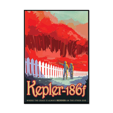 Kepler-186f: Where the Grass is Always Redder on the Other Side Artblock