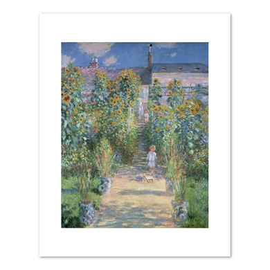 Claude Monet, The Artist's Garden at Vétheuil, 1880, Fine Art Prints in various sizes by Museums.Co