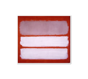 Mark Rothko, Untitled, 1958, Framed Art Print with white frame in 3 sizes by Museums.Co