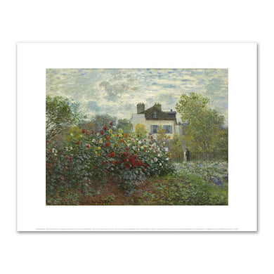 The Artist's Garden in Argenteuil (A Corner of the Garden with Dahlias) by Claude Monet