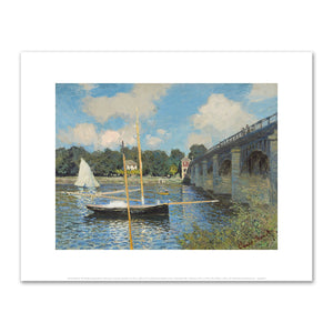 Claude Monet, The Bridge at Argenteuil, 1874, Art Prints in 4 sizes by 2020ArtSolutions