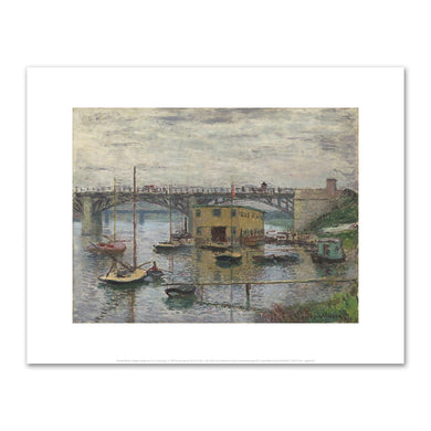 Claude Monet, Bridge at Argenteuil on a Gray Day, Fine Art Prints in various sizes by Museums.Co