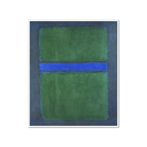 Mark Rothko, Untitled, 1957, Framed Art Print with white frame in 3 sizes by Museums.Co
