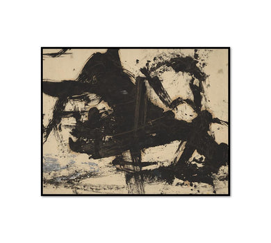 Franz Kline, Untitled, 1950s, Framed Art Print with black frame in 3 sizes by Museums.Co