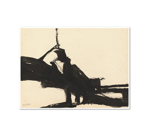 Franz Kline, Untitled, 1955, Framed Art Prints with white frame in 3 sizes by Museums.Co