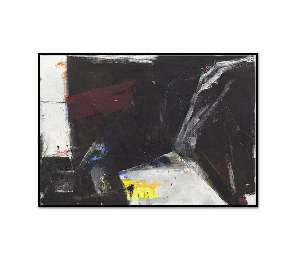 Franz Kline, C & O, 1958, Framed Art Print with black frame in 3 sizes by Museums.Co