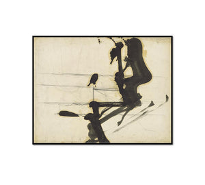 Franz Kline, Untitled, 1950s, Framed Art Prints with black frame in 3 sizes by Museums.Co