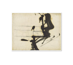 Franz Kline, Untitled, 1950s, Framed Art Prints with white frame in 3 sizes by Museums.Co
