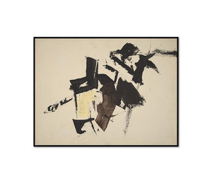 Franz Kline, Untitled, possibly 1960, Framed Art Print with black frame in 3 sizes by Museums.Co