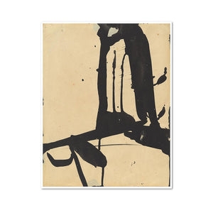Franz Kline, Untitled, 1940s-1950s, Framed Art Print with white frame in 3 sizes by Museums.Co
