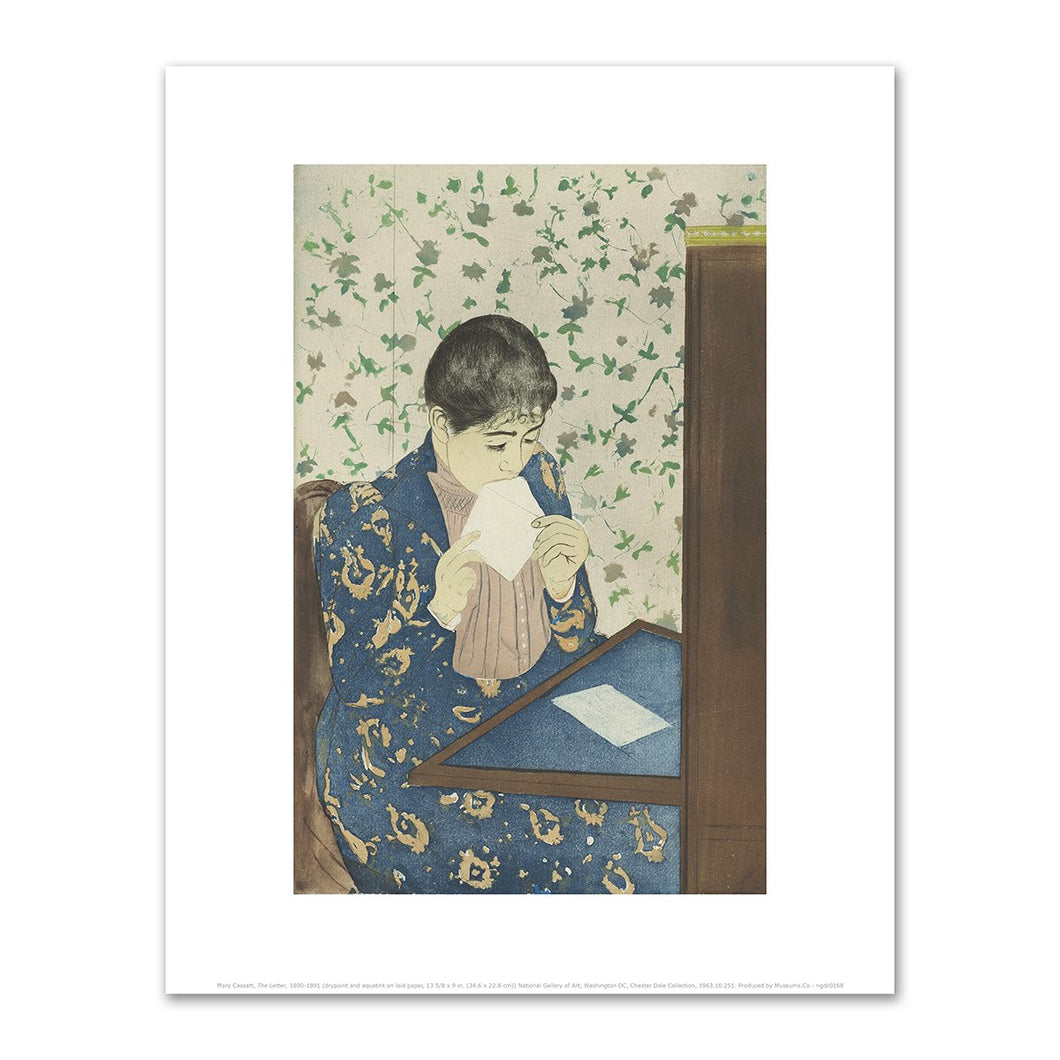 Mary Cassatt, The Letter, 1890-1891, Fine Art Print in various sizes by Museums.Co