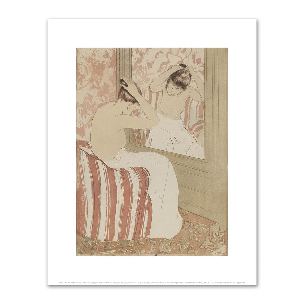 Mary Cassatt, The Coiffure, 1890-1891, Fine Art Print in various sizes by Museums.Co