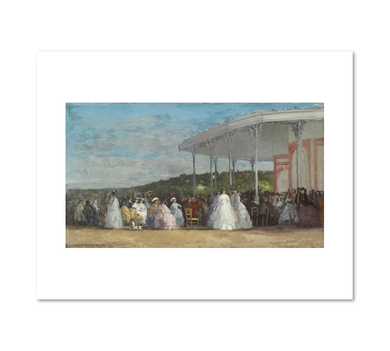Eugène Boudin, Concert at the Casino of Deauville, 1865, Fine Art Prints in various sizes by Museums.Co