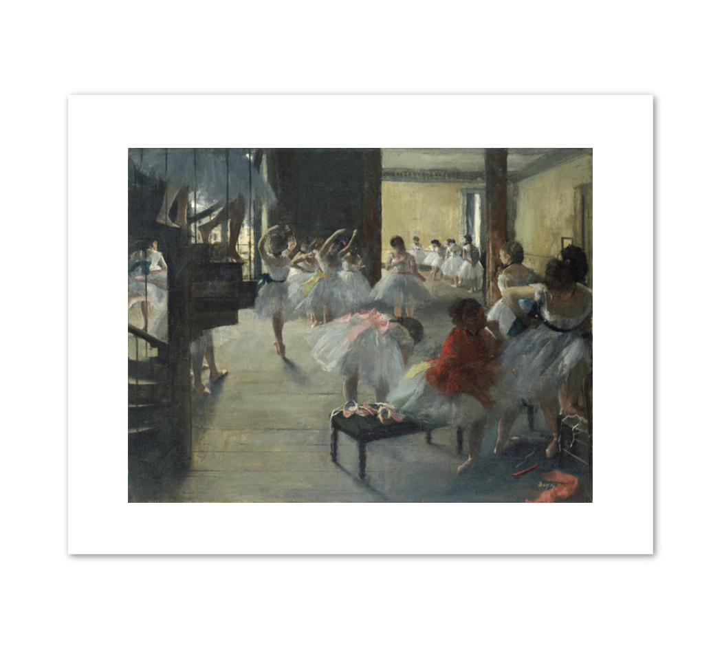 Edgar Degas, The Dance Class, c. 1873, Fine Art Prints in various sizes by Museums.Co