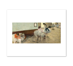 Edgar Degas, The Dance Lesson,  c. 1879, Fine Art Prints in various sizes by Museums.Co
