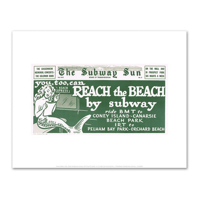 Amelia Opdyke Jones, Reach the Beach by Subway, 1977, Art Prints in 4 sizes by 2020ArtSolutions