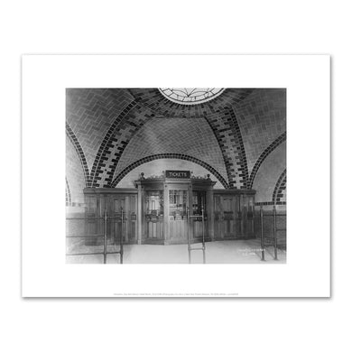 Unknown, City Hall Station Ticket Booth, 3/31/1904, Fine Art Prints in various sizes by Museums.Co