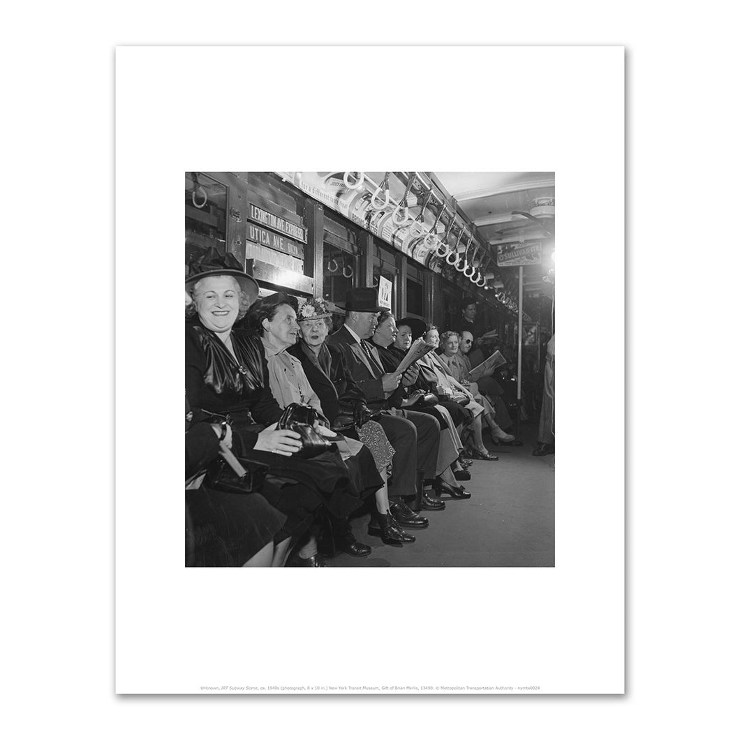 Unknown, IRT Subway Scene, ca. 1940s, Fine Art Prints in various sizes by Museums.Co