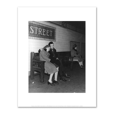 Unknown, Couple on Bench in Subway Station, ca. 1943, Fine Art Prints in various sizes by Museums.Co