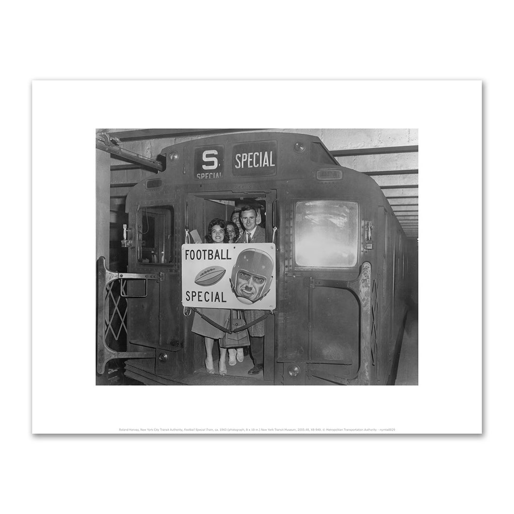 Roland Harvey, New York City Transit Authority, Football Special Train, ca. 1960, Fine Art Prints in various sizes by Museums.Co