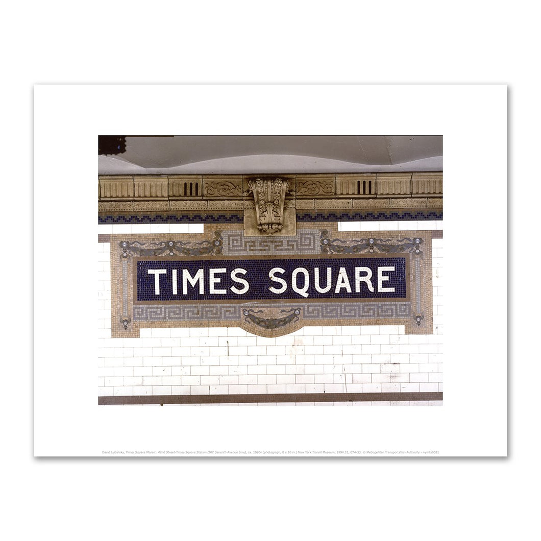 David Lubarsky, Times Square Mosaic: 42nd Street-Times Square Station (IRT Seventh Avenue Line), ca. 1990s, Fine Art Prints in various sizes by Museums.Co