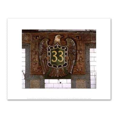 David Lubarsky, Eagle Mosaic: 33rd Street Station (IRT East Side Line), ca. 1990s, Fine Art Prints in various sizes by Museums.Co