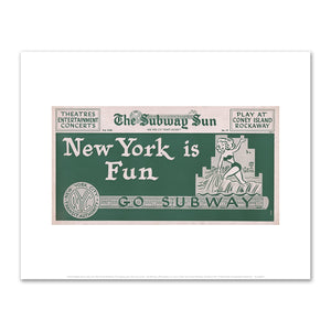 Amelia Opdyke Jones, New York City Transit Authority, The Subway Sun, New York is Fun - Go Subway, 1956, Fine Art Prints in various sizes by Museums.Co