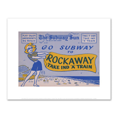 Amelia Opdyke Jones, New York City Transit Authority, The Subway Sun, Subway to Rockaway - Take IND